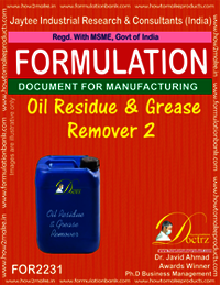 Formula of Oil Residue & Grease Remover 2