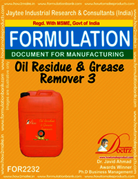 Formula of Oil Residue & Grease Remover 3