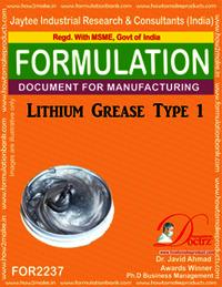 Lithium Grease Manufacturing Formula-1