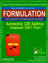 Automobile CSR Additive compound DEF Fluid -I