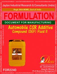 Automobile CSR Additive compound DEF Fluid -II
