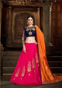 karma lehenga design 18-23 satin silk catalog