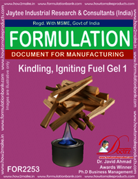 Kindling, Fire igniting Fuel Gel chemical Formula