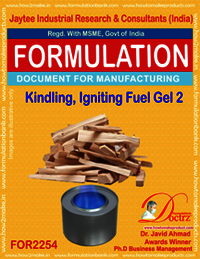 Kindling, Fire igniting Fuel Gel chemical Formula 2