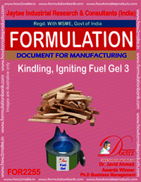 Kindling, Fire igniting Fuel Gel chemical Formula 3