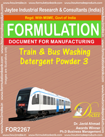 Bus Truck and Trains Cleaner Formulations