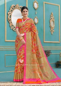 sethnic wholesaling peach mintorsi varsiddhi saree