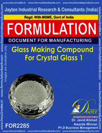 Glass Making Compound for Crystal Glass 1