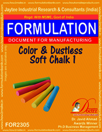 Color Dustless soft writing chalk formula-1