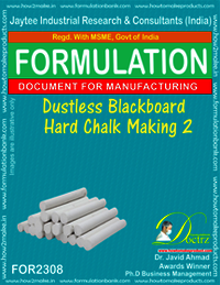 Dustless hard chalk for black board formula-2