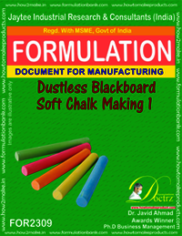 Dustless soft chalk for black board formula-1