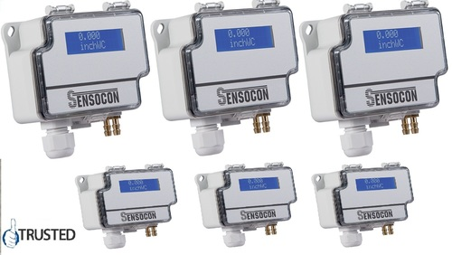 Sensocon USA Differential Pressure Transmitter Series DPT10-R8 - Range 0 - 1250 Pa