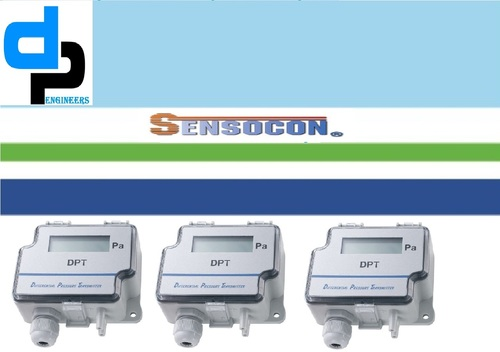 Sensocon USA Differential Pressure Transmitter Series DPT10-R8 - Range -12.7 - 12.7 mmWC
