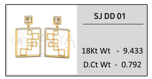 Diamond Dangular Earring