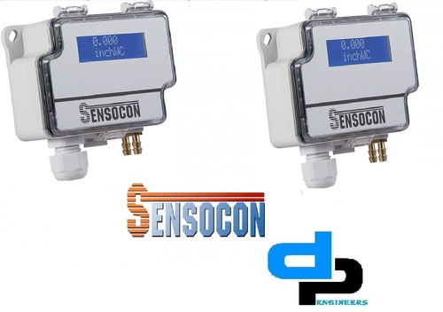 Sensocon USA Differential Pressure Transmitter Series DPT10-R8 - Range -127 - 127 mmWC