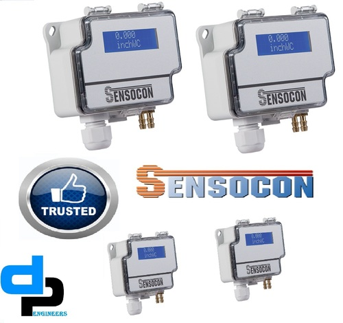 Sensocon USA Differential Pressure Transmitter Series DPT30-R8 - Range  -10.0 - 10.0 inWC