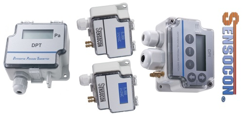 Sensocon USA Differential Pressure Transmitter Series DPT30-R8 - Range  -25 - 25 mbar