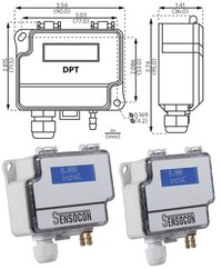 Sensocon USA Differential Pressure Transmitter Series DPT30-R8 - Range  0 - 254 mmWC