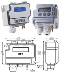 Sensocon USA Differential Pressure Transmitter Series DPT30-R8 - Range  0 - 635 mmWC