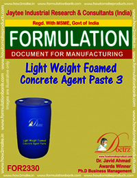 Light Weight Foamed Concrete Agent Paste-3