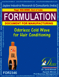Odorless Cold Wave for Hair Conditioning