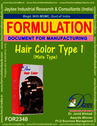 Formula of Hair Color type-1 mate-type