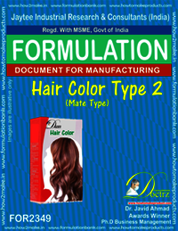 Formula of Hair Color type-2 mate-type