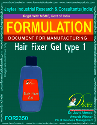 Formula of Hair Fixer Gel type-1
