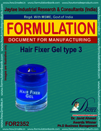 Hair fixer gel formulation type-3