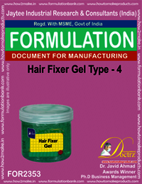 Hair fixer gel formulation type-4