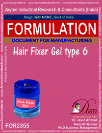 Hair fixer gel formulation type-6