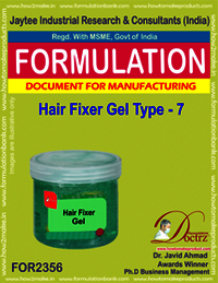 Hair fixer gel formulation type-7