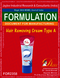 Hair Removing Cream Formula type-A