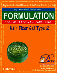 Hair fixer gel formulation type-2