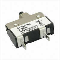 125250V AC 50V DC Thermal Circuit Breaker in 91 Series with 1.0 to 10.0A Current