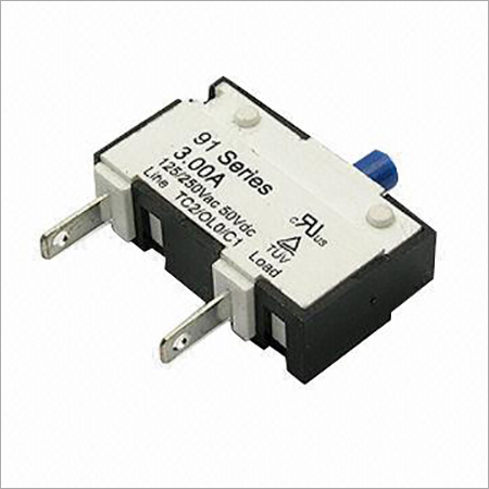125250V AC 50V DC 91 Series Thermal Circuit Breaker with 500M Insulation Resistance