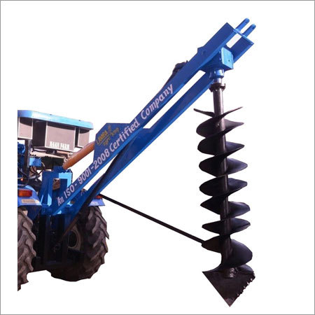 Double Boom Single Pump Hydraulic Post Hole Digger
