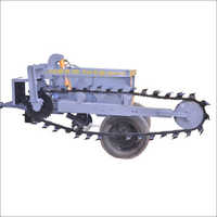 Sideway Model Tractor Attached Trencher
