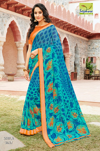 Casual Georgette Printed Saree