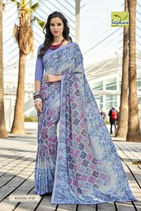 bridal printing saree