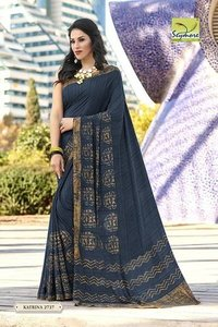bridal printed saree