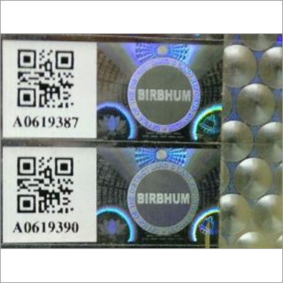 Hologram With Barcode & QR Code