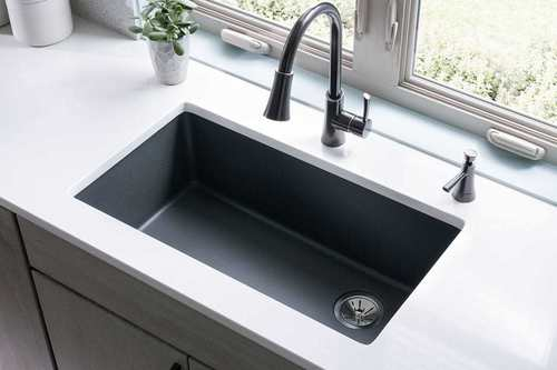 Quartz kitchen sink