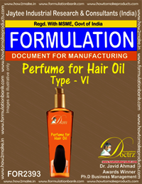 Formula of Perfume compound for Hair Oil type-6