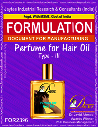 Formula of Perfume compound for Hair Oil type-3
