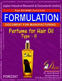 Formula of Perfume compound for Hair Oil type-2