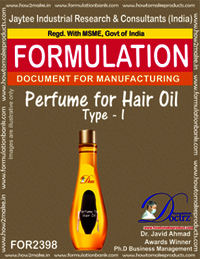Formula of Perfume compound for Hair Oil type-1