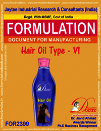 Formula of Hair Oil type-vi