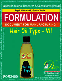 Formula of Hair Oil type-vii