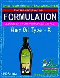 Formula of Hair Oil type-x